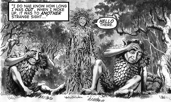 Ghillie Dhu encounters Vine Dryad